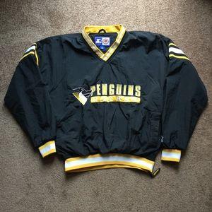Vintage 90's Starter Penguins Pullover Jacket XL